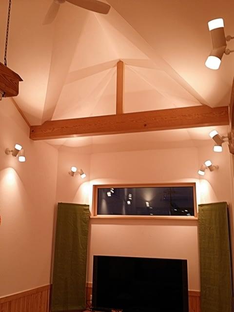 勾配天井と多角形のパノラマ