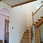 室内漆喰塗り完成(Only1の家煉瓦)