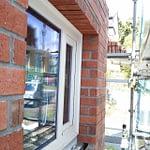 煉瓦積み1階窓上完成(Only1の家煉瓦)