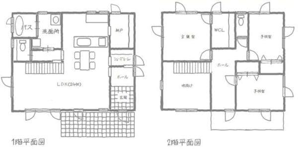 24畳のLDK!とても広々空間です!階段上のホールはセカンドリビング的な使い方も出来ます!